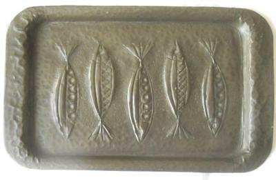 Fabulous Hand Crafted Arts & Crafts Antique Pewter Dish Stylised Fish Design