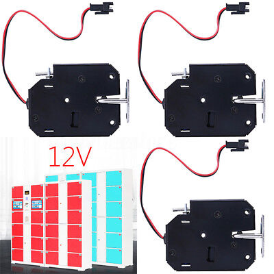 AU 3pcs 12V DC Electric Solenoid Lock Tongue Assembly for Automatic Cabinet Door