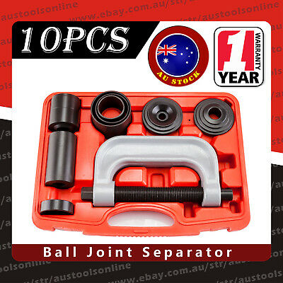 10pc Ball Joint Service Kit Remover Separator Installer 4x4 Auto Garage Tool Set