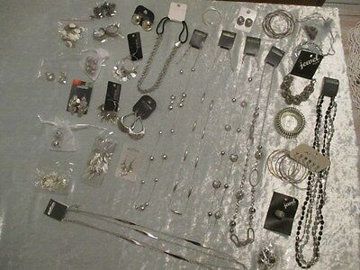 Bulk Lot 40pcs Fashion Jewellery - Silver Tones NWT