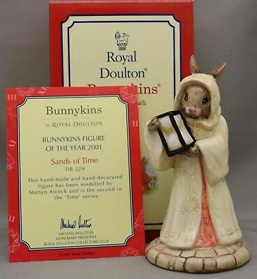 """Royal Doulton Bunnykins - """"Sands of Time"""" - DB229 - New in Box with certificate."""