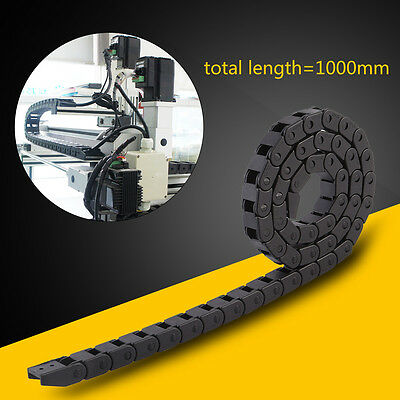 3.28ft Length Black Nylon Cable Drag Chain Wire Carrier for 3D Printer Parts