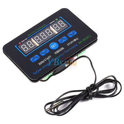 DC12V Digital LED Display Temperature Controller Thermostat Control Switch Probe