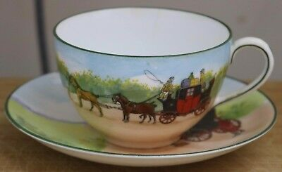 Royal Doulton SeriesWare - Cup & Saucer - Rare Blue Sky Bone China 110 years old