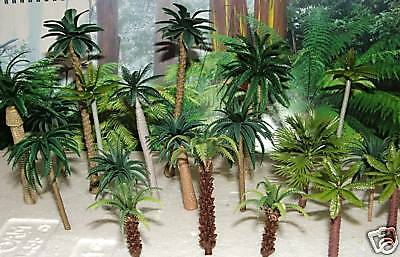 20 Palm trees Rainforest Instant Jungle wargame diorama 3-12cm HO 1/87 any scale