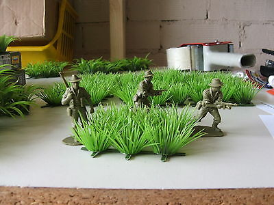 JUNGLE GRASS RIce plants Rainforest WW2 Vietnam 1/35 1/32 O G scale plastic