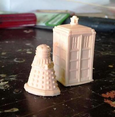 BRITISH POLICE BOX 1/87 HO scale Unpainted Resin Who did you say Tardis & Darlek