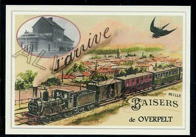 OVERPELT -  ....  TRAIN  ...  souvenir creation moderne serie numerotee
