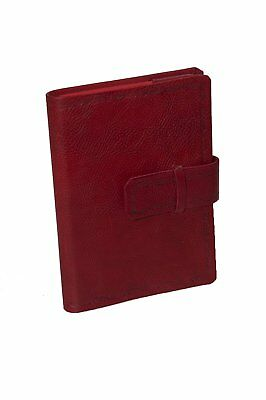 Master Bookshop eugubini- Daily Agenda Interchangeable, in Calf Leather, Red 21