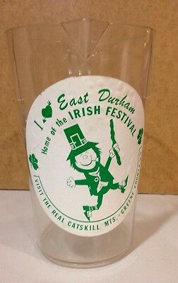 Vintage East Durham NY Irish Festival Beer Pitcher Leprechaun Catskill Mts