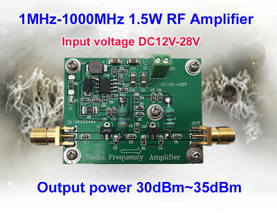 10mhz 500mhz 1 5w hf fm vhf uhf rf power amplifier for ham radio1mhz 1000mhz 1ghz 1 5w hf fm vhf uhf rf power amplifier for ham radio
