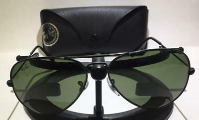 164aab53e9d Ray-Ban Rb3025 W3361 Aviator Black   Green Polarized Sunglasses - W  Case 58