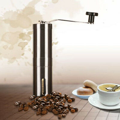 New Manual Coffee Bean Grinder Portable Hand Crank Stainless Coffee Burr Mill