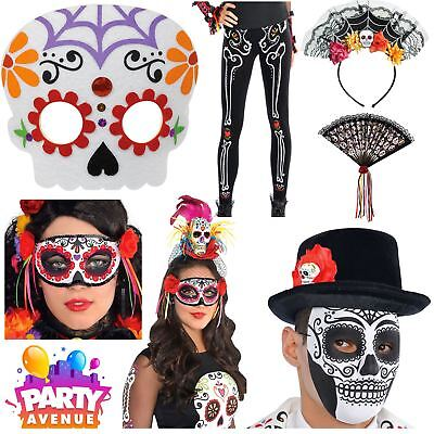 Day of the Dead Costume Accessories Halloween Sugar Skull Flower Fancy Dress Lot