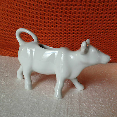 White Ceramic Cow Coffee Creamer
