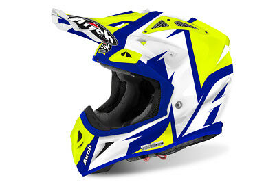 2016 Airoh Aviator 2.2 Steady Yellow  Motocross Helmet Gold Stamped Approved