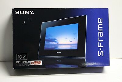 New Open Box Sony DPF-X1000 10.2-Inch Digital Photo Frame Complete