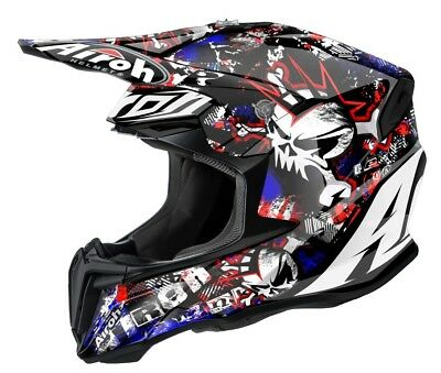 2016 Airoh Twist Punk Motocross Helmet Gold Stamped Approved