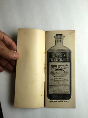 "Origional Vintage GLYCO-THYMOLINE, Physician's product information ""little book"""