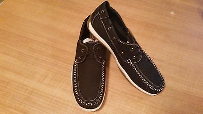 "Lot (C) Mens BlACK SEDAGATTI Boat Shoes SED004 ""SIZE 11"""