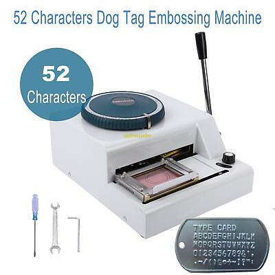 52 Characters Dog ID Card Tag Embosser Embossing Stamping Machine DIY