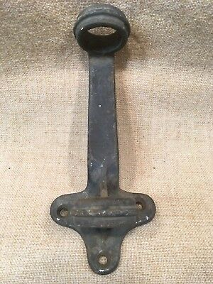 "Antique Vintage 1.5"" Cast Iron Flag Pole Bracket Wall Mount Holder stars stripes"