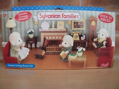 Sylvanian Families Country Living Room Set With Figures PicClick UK