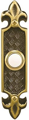 Heath Zenith Wired Lighted Door Bell Push Button Front Chime Antique Brass