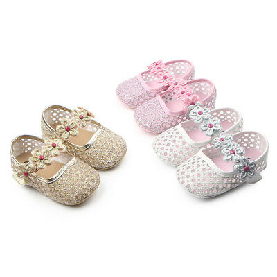 Cinda Baby Girls Sparkling Party Shoes in Pink White Gold 3 6 9 12 Months