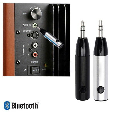 Wireless Bluetooth4.1 Mini Bullet 3.5mm Audio Adapter Car Aux Mic Music Receiver