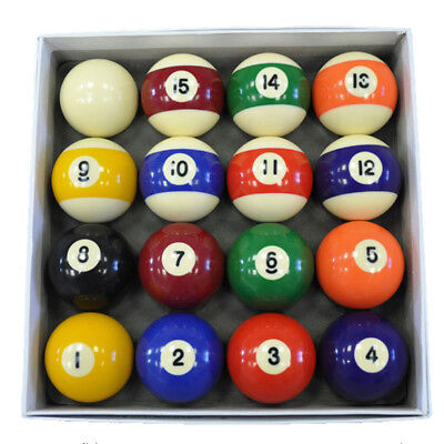 Spots and Stripes Pool Ball Set - 2 Inch UK Size Ball Set - Free Delivery