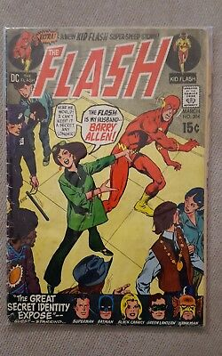 The Flash 204 comic 1971 Silver Age 15 cent Kid Barry Allen