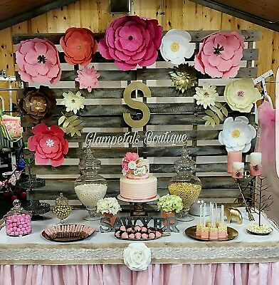 Party backdrop paper flower wall