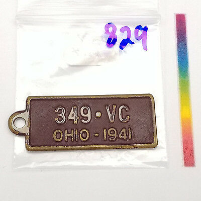 """#829 - """"349 VC OHIO 1941"""" front. """"Switch to BF Goodrich First in Rubber"""" back."""