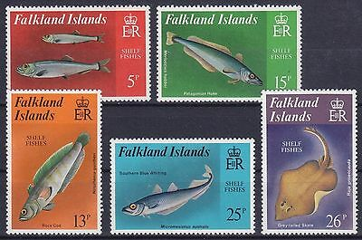 Falkland-Inseln Mi-Nr. 336 - 340 **, Fische / Fishes / Poissons