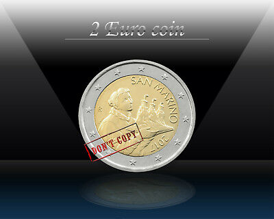 SAN MARINO 2 EURO 2017 (Saint MARINO - NEW DESIGN) Regular Bi-Metallic Coin *UNC