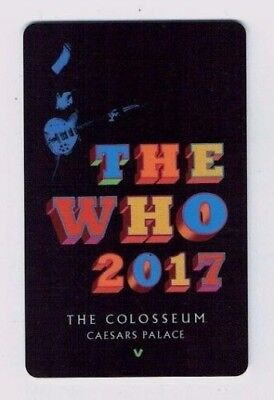 THE WHO - CAESARS PALACE Las Vegas - THE COLOSSEUM - Casino Room KEY Card Hotel