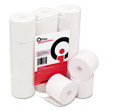 "Calculator Adding Machine Paper Rolls 2 1/4"" x 150 ft - 12 pack"