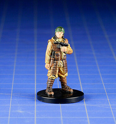 Star Wars miniatures minis Bounty Hunters Human Blaster-for-hire #35 & Card WOTC