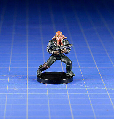 Star Wars miniatures minis Bounty Hunters Quarren Bounty Hunter #45 & Card WOTC