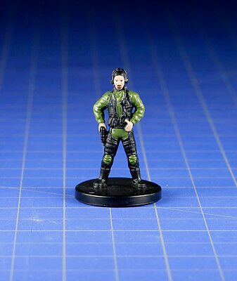 Star Wars miniatures Bounty Hunters Dark Hellion Swoop Gang Member #27 & Card