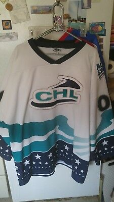 GUC White XXL CHL All Star Jersey Gamez 00 Minor League Hockey Jersey