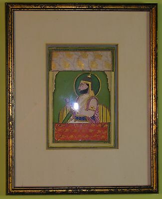 Fine quality Indian Miniature 1800's, Unidentified General Rajasthan?