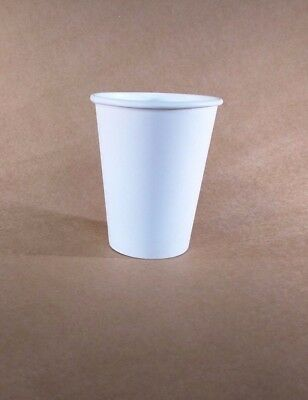 12 oz  Case of 1000 WHITE Paper Coffee Cup/Disposable Hot Cups only - No LIDS