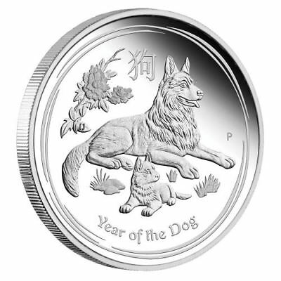 2018 Australia PROOF Lunar Year of the Dog 1/2 oz SIlver 50c half dollar Coin