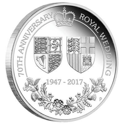 2017 70th Anniversary of the Royal Wedding 1oz $1 Silver Proof Coin
