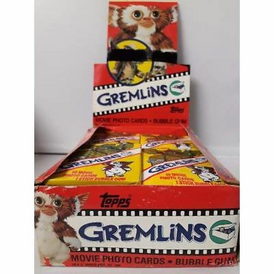 Gremlins Wax Pack 1984 Topps Movie Trading Cards Stickers -Single Packet-