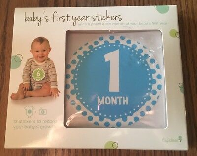Tiny Ideas Baby's First Year Stickers - belly growth record - NEW - 1 ea month