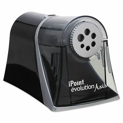 iPoint 15509 Evolution Axis Pencil Sharpener  Black/Silver  5w x 7 1/2 d x 7