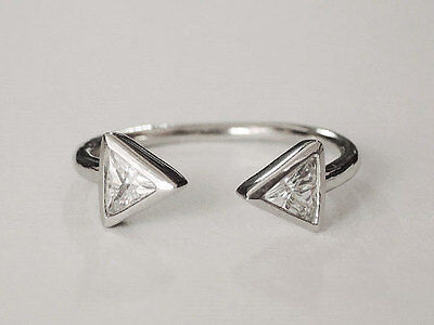 Sovats Women Triangle Geometric Natural Minimal Adjustable Finger Ring Size 5-12